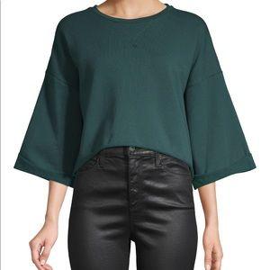 Betsey Johnson Cropped Sweatshirt Amazon Green